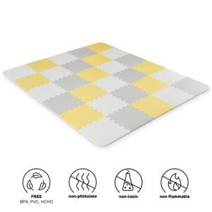 Kinderkraft Foam Mat Puzzles LUNO Yellow