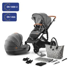 Kinderkraft Stroller PRIME 2020 with Accessories 2in1 Grey