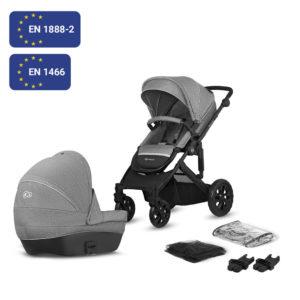 Kinderkraft Stroller Prime Lite Grey 2in1
