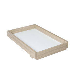 Babymore Cot Top Changer for Luno and Veni Cot Beds - Oak