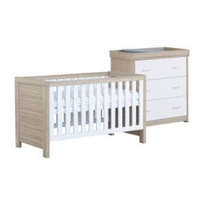 Babymore Luno Room Set 2 Pieces - White Oak