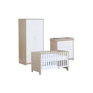 Babymore Luno Room Set 3 Pieces - White Oak