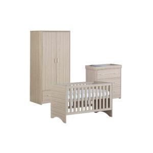 Babymore Veni Room Set 3 Pieces - Oak