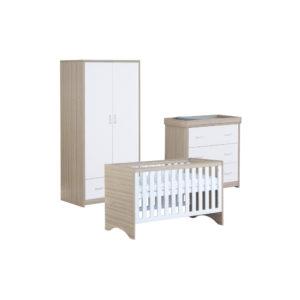 Babymore Veni Room Set 3 Pieces - White Oak