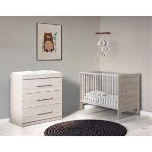 Ickle Bubba Grantham Mini 2 Piece Furniture Set - Grey Oak