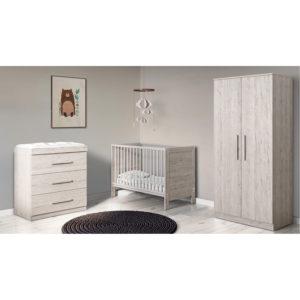 Ickle Bubba Grantham Mini 4 Piece Furniture Set - Grey Oak