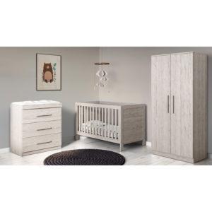 Ickle Bubba Grantham 3 Piece Furniture Set - Grey Oak