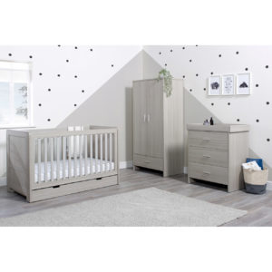 Ickle Bubba Pembrey Cot Bed, Wardrobe and Changing Unit/Chest