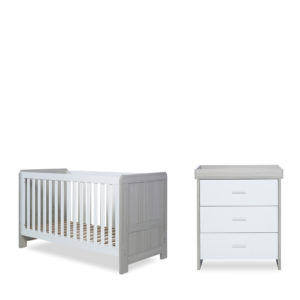 Ickle Bubba Pembrey Cot Bed and Changing Unit/Chest