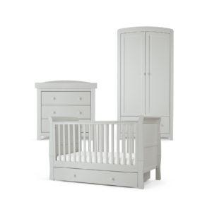 Mamas & Papas 3 piece Mia Cotbed Room Set - Cool Grey