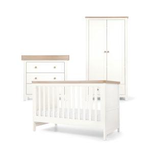 Mamas & Papas 3 piece Keswick Room Set - White/Oak