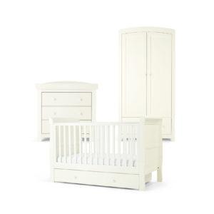 Mamas & Papas 3 piece Mia Cotbed Room Set - White