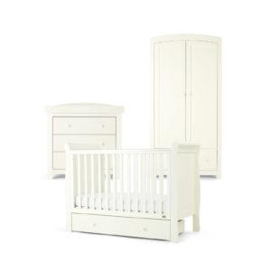 Mamas & Papas 3 piece Mia Cot Room Set - White