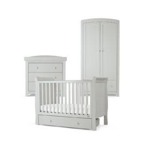 Mamas & Papas 3 piece Mia Cot Room Set - Cool Grey