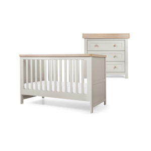 Mamas & Papas 2 piece Keswick Room Set - Cool Grey/Oak