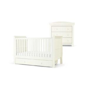 Mamas & Papas 2 piece Mia Cotbed Room Set - White