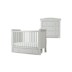 Mamas & Papas 2 piece Mia Cot Room Set - Cool Grey