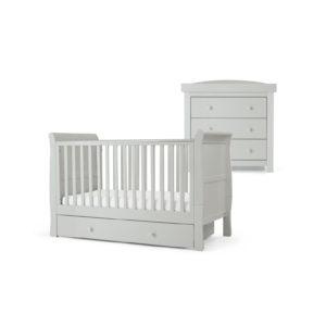 Mamas & Papas 2 piece Mia Cotbed Room Set - Cool Grey