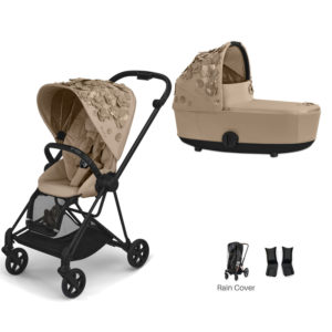Cybex MIOS Stroller with Carrycot Simply Flowers Beige