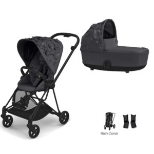 Cybex MIOS Stroller with Carrycot Simply Flowers Grey