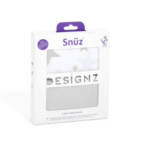 Snuz 2 Pack Crib Fitted Sheets