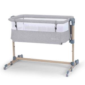 Kinderkraft Baby Cot Neste AIR Grey/Wood