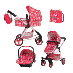 Cosatto Giggle Quad Dolls Pram & Car Seat - Fairy Garden