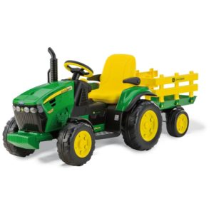 Peg Perego - Electric Tractor John Deere Ground Force with Trailer